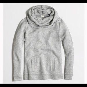 J Crew Factory Funnel Neck Sweatshirt Gray Small